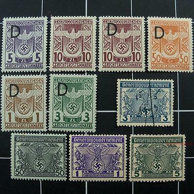 Germany court revenue stamps-MNH-WW2 German occupied Poland-General Gouvernement