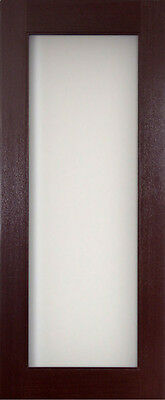 Mahogany Interior Door Full Glass Panel Modern Style Solid Core NEW GREAT Price