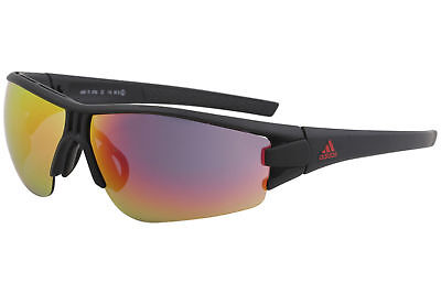 95ef122c635e Adidas Men's Evil Eye AD08 AD/08 9700 Matte Black Sport Wrap Sunglasses