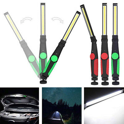 LED COB Work Light Rechargeable Magnetic Torch Flexible Inspection Lamp Cordless