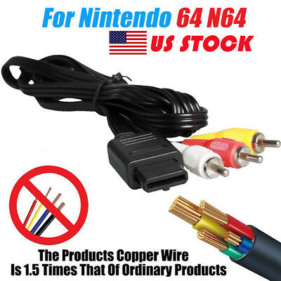 6ft AV Audio Video TV Composite Cable Cord for Nintendo N64 SNES Super GameCube