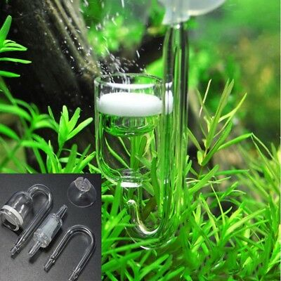 4in 1 Spiral Glass Aquarium Tank CO2 Diffusor Bubble Counter with Suction Tassen