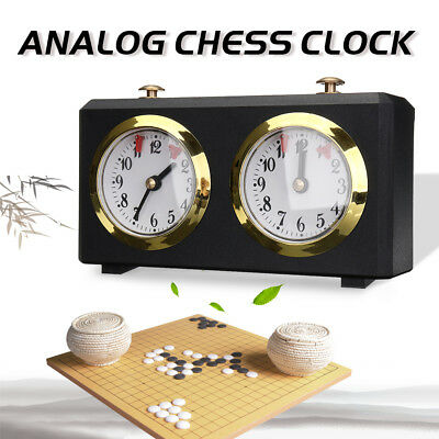 Analog Chess Clock Two Faces I-GO Count Up Down Alarm Timer Mute Chess Clock AU