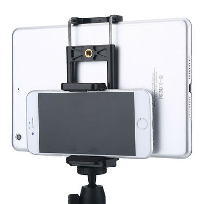 Tripod Adapter Phone Holder Clip Stand Mount Bracket For Phone Tablet Camera SP