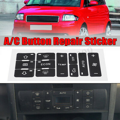 A/C Heater Switch Control Button Repair Decal Sticker Kit For Audi A2/ A3 8L