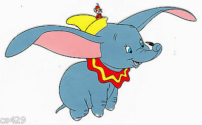 "7"" Disney dumbo elephant peel & stick wall border cut out character"