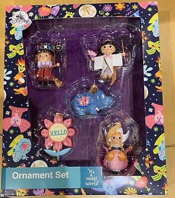 Disney Parks it's a small world Christmas Ornament Set NEW