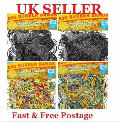 Strong Elastic Rubber Band Assorted Size for Home School Office 80g 400, 1200 UK