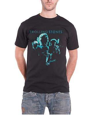 The Rolling Stones T Shirt Band Glow Distressed Logo Official Mens New Black