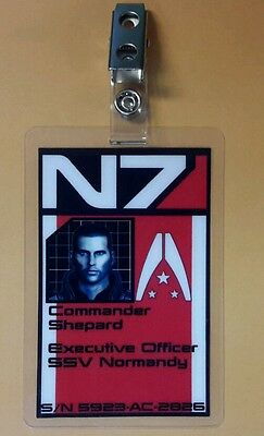 Mass Effect ID Badge-N7 Executive Officer Commander Shepard cosplay prop male