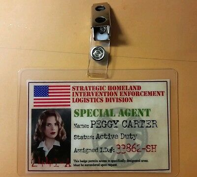 Agent Carter ID Badge -SSR Special Agent Peggy Carter cosplay prop costume flag
