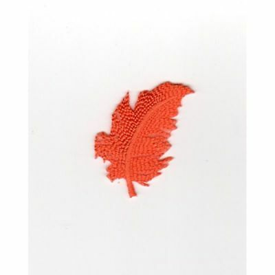 Ecusson Thermocollant PLUME Coloris Orange REF 2468