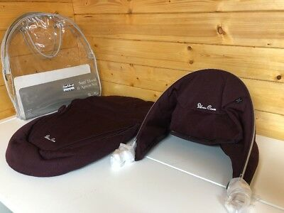 BRAND NEW Silver Cross Surf Hood And Apron set in Plum Purple RRP £150