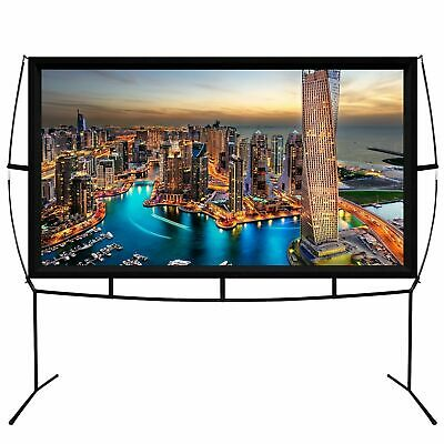 Jumbo 100 Inch 16:9 Portable Outdoor and Indoor Theater Projector Screen - Black