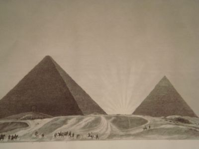 DUTERTRE DESCRIPTION EGYPT Pyramides de Me…ORIGINAL ETCHING FIRST EDITION 1809