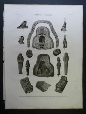 DUTERTRE DESCRIPTION OF EGYPT Thebes Hyp…ORIGINAL ETCHING FIRST EDITION 1809