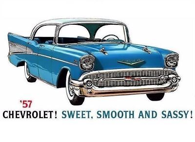 Vintage 57 Chevy Car Advertising PHOTO Chevrolet 1957 Bel Air GM Classic