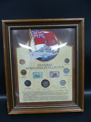 1939-45 Ww2 Canada Framed Coin Collection