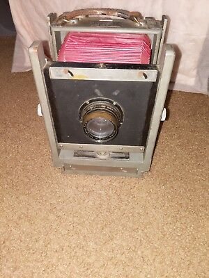vintage Burke and James 4x5 Camera and Lens