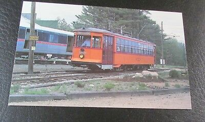 Postcard-<Old Trolleys>-BOSTON ELEVATED RAILWAY CAR--< SHOWN AT MAINE MUSEUM>