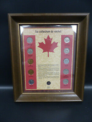 1900's Canada Nickel Framed Coin Collection