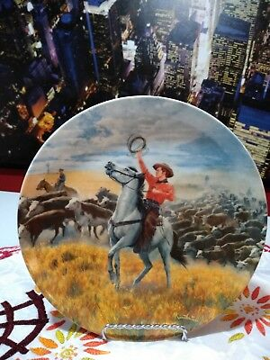 Edwin M Knowles China Co 1986 Collector's Plate Oklahoma - 4th in Series