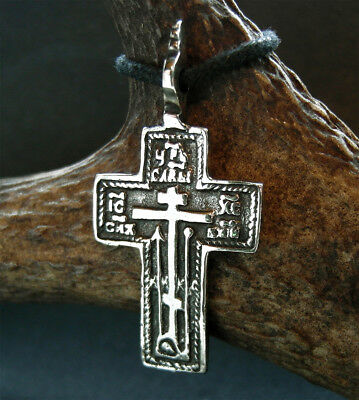 VERY FINE POST MEDIEVAL BRONZE CROSS PENDANT - wearable
