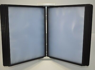 Durable InstaView 10-Section Desktop Reference System - Black Panels - No Tabs