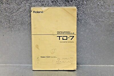 Used Roland TD-7 Percussion Sound Module Owner's Manual 26055317