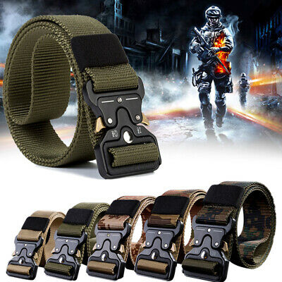 Adjustable Men Military Belt Buckle Combat Waistband Tactical Rescue Rigger CHW