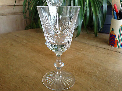 "1 Signed Star of Edinburgh Cut Crystal 6"" x 3"" Claret Wine Glass"