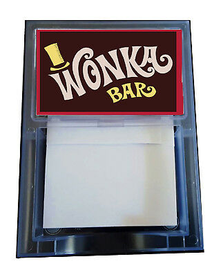 Willy Wonka Charlie And The Chocolate Factory Prop Candy Bar Note Pad Memo