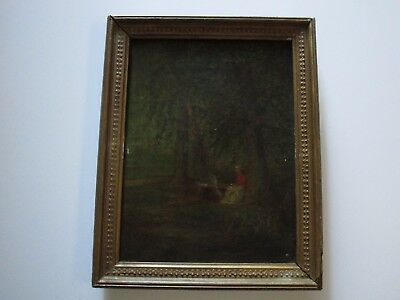 Antique Early 19Th Century 1822 Painting Rare Early American  Landscape Signed