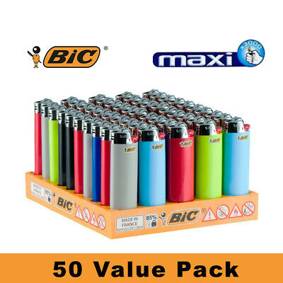50 Genuine BIC Big Large Maxi Cigarette Cigar Tobacco Lighter J26 Made in France