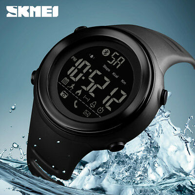 SKMEI Fashion Men's Sports Smart Watch Waterproof BT Digital Wristwatch 1396 1A