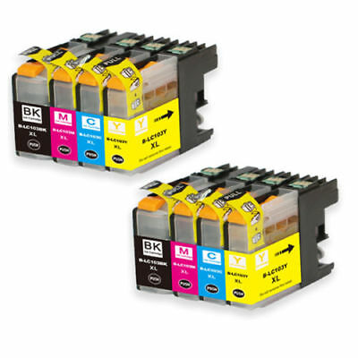 8 Non-Oem Ink Brother Lc-103 Xl Lc101 Mfc-J4610Dw Mfc-J470Dw Mfc-J4710Dw J475Dw