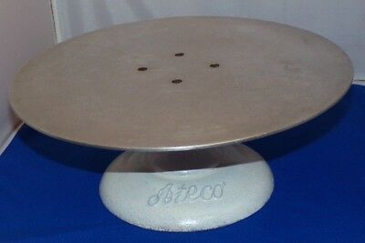 "Ateco Revolving Cake Decorating Stand 12"" Round Cast Iron Base 1/8"" Aluminum Top"