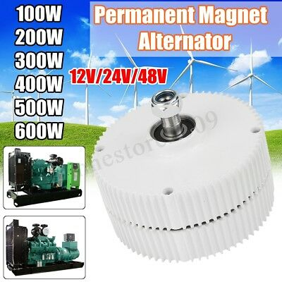 12/24/48V 100W~600W Permanent Magnet Alternator Generator Wind Turbine Generator