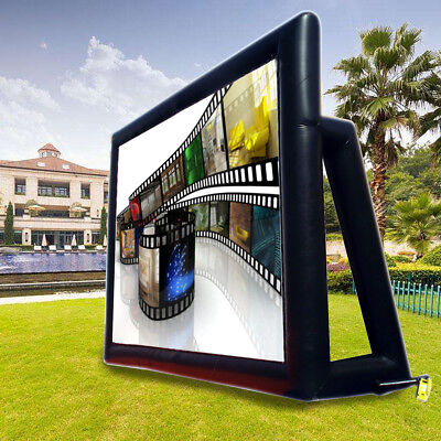 200'' Inflatable Movie Screen Outdoor Projector Cinema Backyard Projection  new