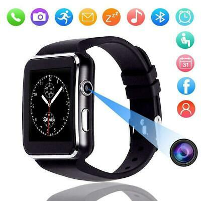 Waterproof Bluetooth Smart Watch Phone Mate For iPhone iOS Android Samsung Black