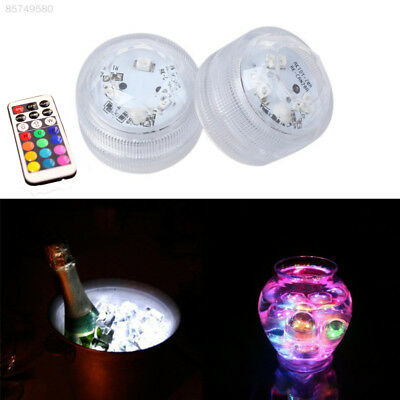 0B66 LED Remote Control Waterproof Light For Vase Wedding Party Fish Tank Decors