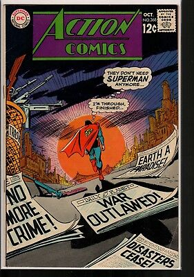 Action Comics #368 FN 6.0 DC Silver Age 1968 Superman, Supergirl!!!