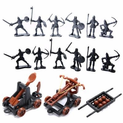 14 PCS/SET KNIGHTS Catapult Crossbow Medieval Toy Soldiers Figures Playset  Gift
