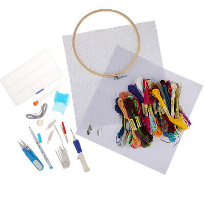 Cross Stitch Embroidery  Craft DIY with Thread Fabric Needle Pen