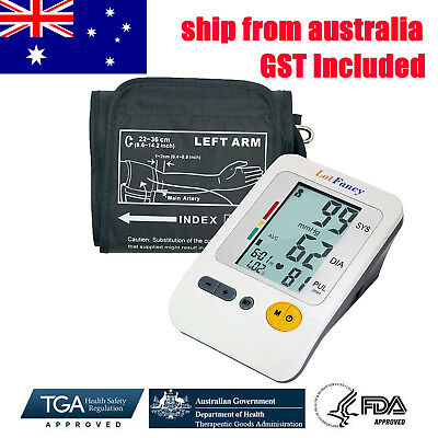 New Digital Electronic Blood Pressure Monitor Upper Arm large Cuff