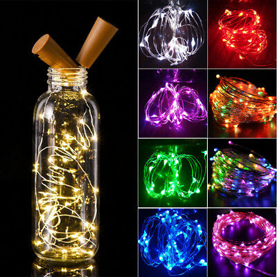2M 20 LED Wine Bottle Fairy String Light Cork Starry Night Lamp For Xmas Wedding