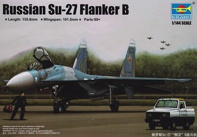 Trumpeter 03909: 1:144 Sukhoi Su-27 Flanker-B (Russian Air Force)
