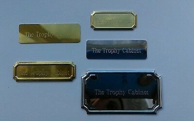 Engraved self adhesive trophy plates