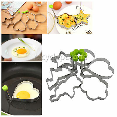 6 PCS Pancake Mould Ring Cooking Tools Kitchen Stainless Steel Egg Shaper Mold