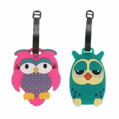 Cartoon Owl Travel Luggage Tags Suitcase Baggage Bag Labels Name Address Holder
